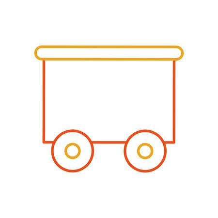 train wagon toy isolated icon vector illustration design Stock Vector - 81636073