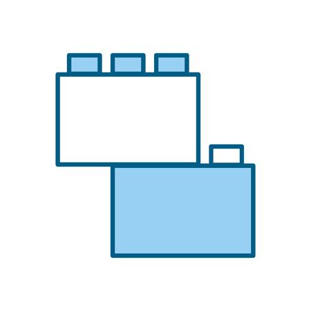 toy blocks structure icon vector illustration design Banco de Imagens - 81636074