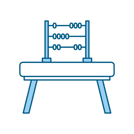 math abacus isolated icon vector illustration design Иллюстрация