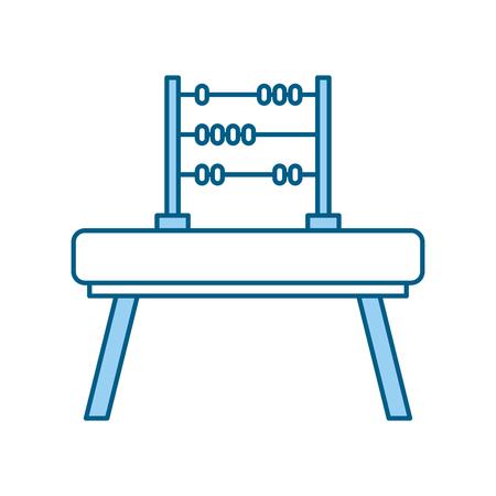 Wiskunde abacus geïsoleerd pictogram vector illustratie ontwerp Stockfoto - 81636076