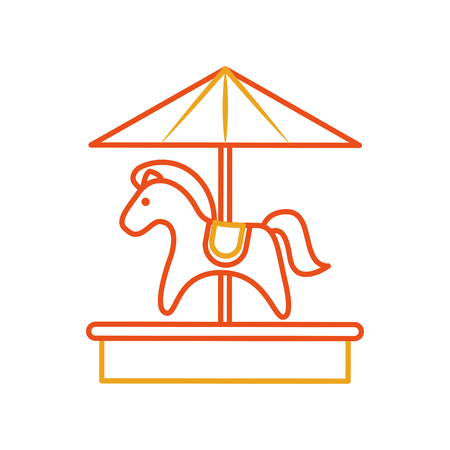 cute carrousel horse isolated icon vector illustration design
