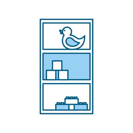 wooden drawer with toys vector illustration design 版權商用圖片 - 81636082