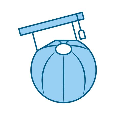 plastic balloon with hat graduation vector illustration design Illustration