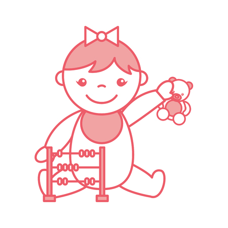 Ilustración Vector Bebé De Chica Linda Diseño 0wpkno Con Personaje nk8wXP0O