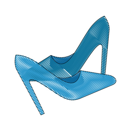 High heel shoes icon vector illustration graphic design Ilustrace