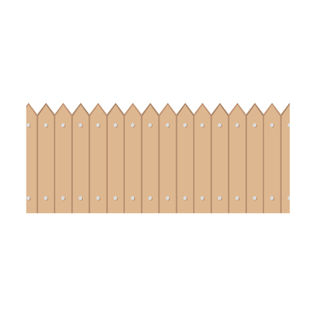 Wooden fence garden design vector illustration icon Illusztráció