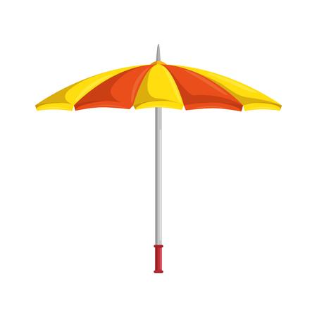 分離された傘シンボル アイコン ベクトル イラスト グラフィック デザイン