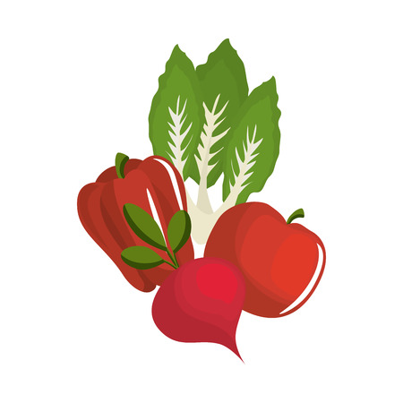 Fresh and delicious vegetables icon vector illustration graphic design
