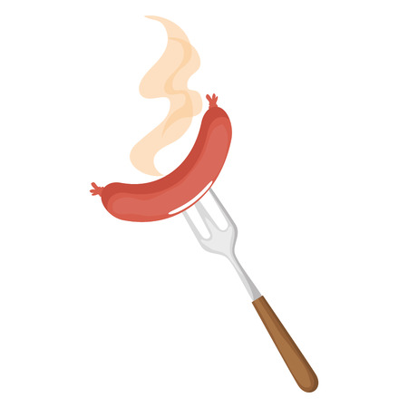 Delicious sausage food icon vector illustration graphic design Illustration