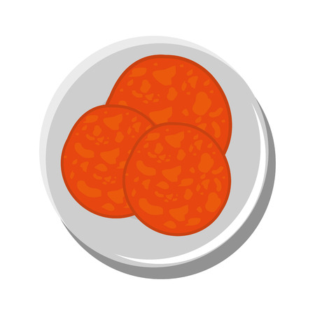 Pepperoni delicious ingredient icon vector illustration graphic design