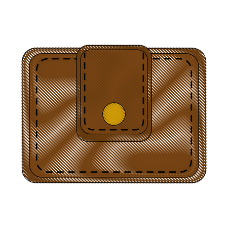 Leather wallet for man icon vector illustration graphic design