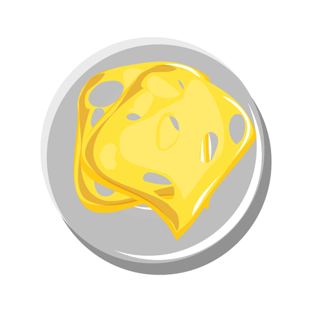 Delicious cheese food icon vector illustration graphic design