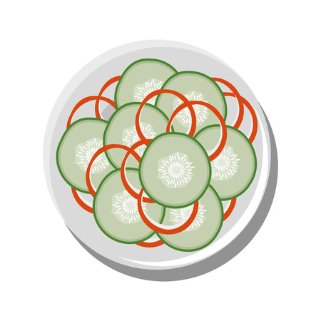 Healthy salad food icon vector illustration graphic design