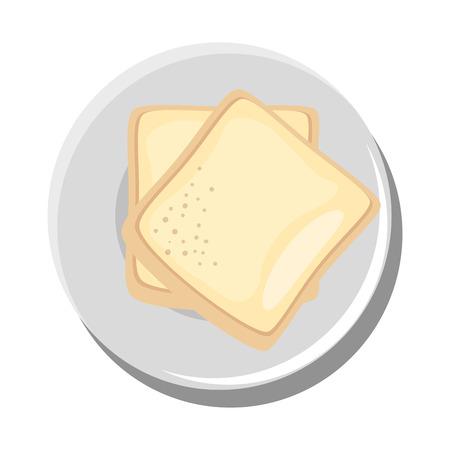 おいしいパン分離アイコン ベクトル イラスト グラフィック デザイン