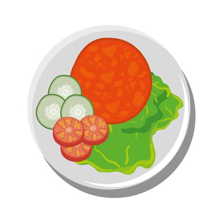 Delicious food restaurant icon vector illustration graphic design