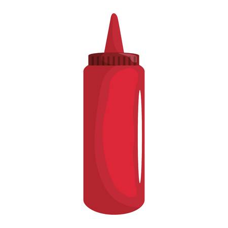 Ketchup plastic bottle icon vector illustration graphic design Çizim