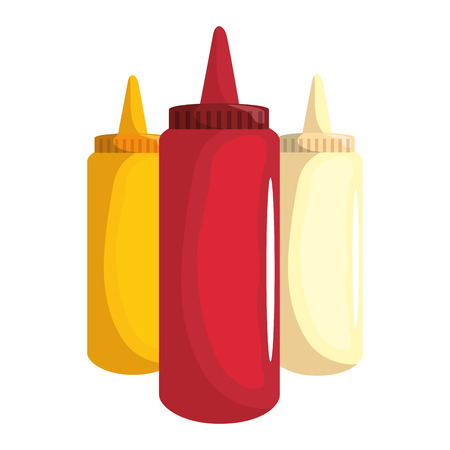 sauces plastic bottles icon vector illustration graphic design