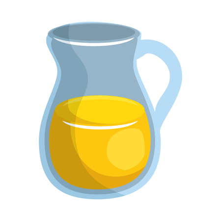 Juice in a jar glass icon vector illustration graphic design.