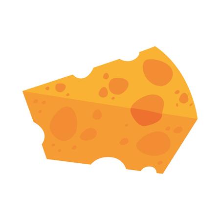 Progettazione grafica dell'illustrazione di vettore dell'icona dell'alimento del formaggio delizioso Archivio Fotografico - 81620525