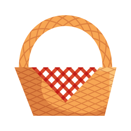 Picnic basket empty icon vector illustration graphic design