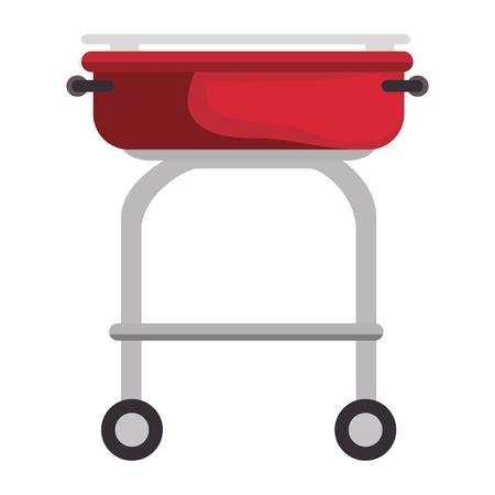 Barbecue grill isolated icon vector illustration graphic design Ilustracja