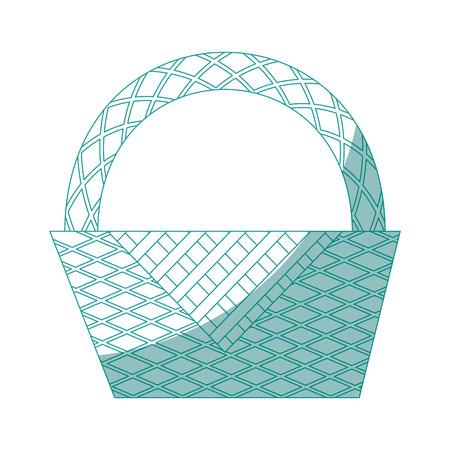 Picnic basket cartoon icon vector illustration graphic design Ilustracja