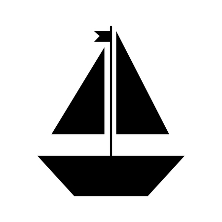 Sail boat isolated icon vector illustration design