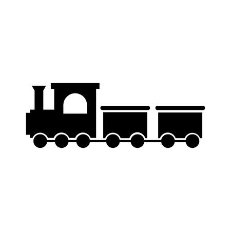 Brinquedo de trem isolado ícone design de ilustração vetorial Foto de archivo - 81636835