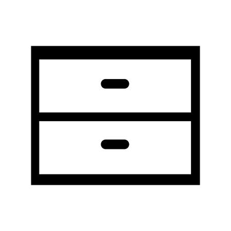 closet door: wooden drawer isolated icon vector illustration design