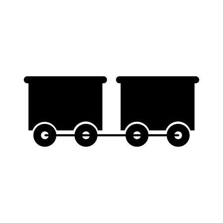 train wagon toy isolated icon vector illustration design
