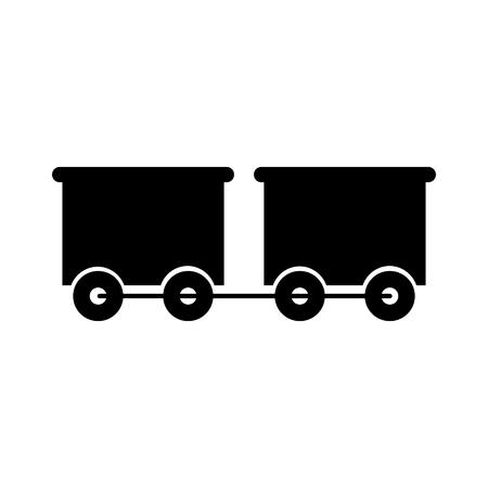 train wagon toy isolated icon vector illustration design Stock Vector - 81636844