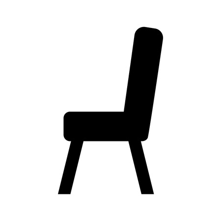 Diseño de la silla de madera aislado icono vector ilustración Foto de archivo - 81627043