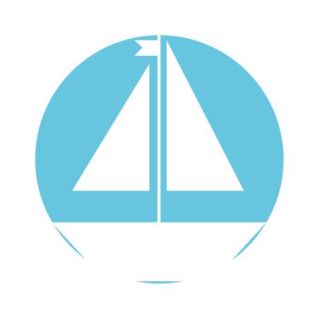 Sail boat isolated icon vector illustration design Zdjęcie Seryjne - 81622061