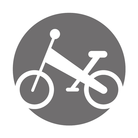 bicycle mountain isolated icon vector illustration design