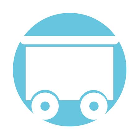 train wagon toy isolated icon vector illustration design Stock Vector - 81627147