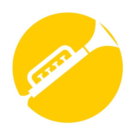 trumpet toy isolated icon vector illustration design Illustration