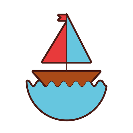 sail boat isolated icon vector illustration design Ilustrace