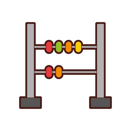 wiskunde abacus geïsoleerd pictogram vector illustratie ontwerp
