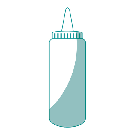 Sauce plastic bottle icon vector illustration graphic design