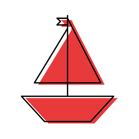 Sail boat isolated icon vector illustration design Stock Vector - 81621341