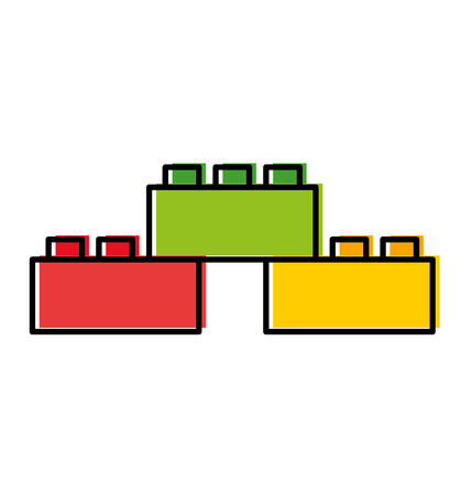 Toy blocks structuur pictogram vector illustratie ontwerp Stock Illustratie