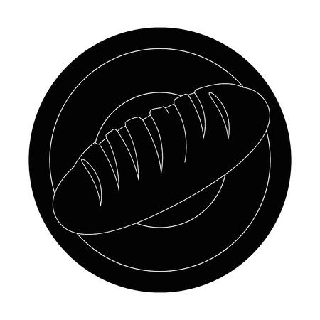 Fresh and delicious bread icon illustration vectorielle design graphique Banque d'images - 81621371