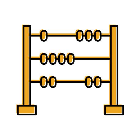 Vector de illustratieontwerp van het wiskundelabel het geïsoleerde pictogram