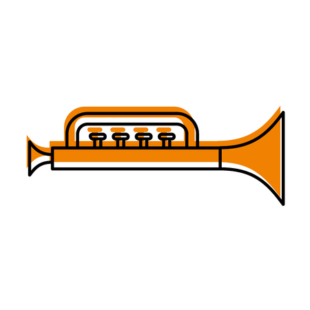 trumpet toy isolated icon vector illustration design Illustration