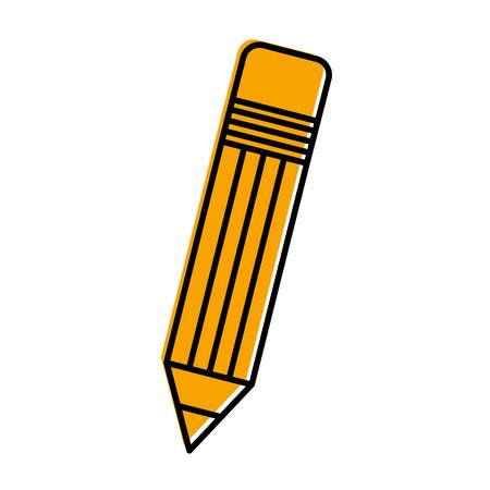 A school pencil isolated icon vector illustration design. Ilustração