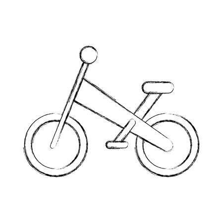 A mountain bicycle isolated icon vector line illustration design. Иллюстрация