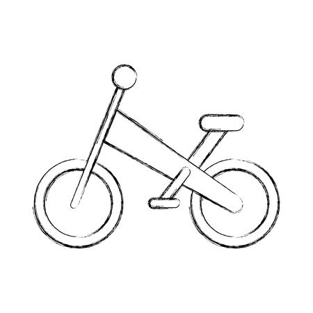 Una bicicletta di montagna isolato icona illustrazione vettoriale linea di progettazione Archivio Fotografico - 81625534