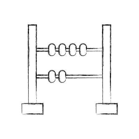 ontwerp van de het pictogram vectorillustratie van mathabacus het geïsoleerde