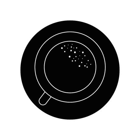 Mug coffee symbol in top view icon vector illustration graphic design.