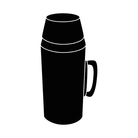 A thermos flask black icon vector illustration graphic design.
